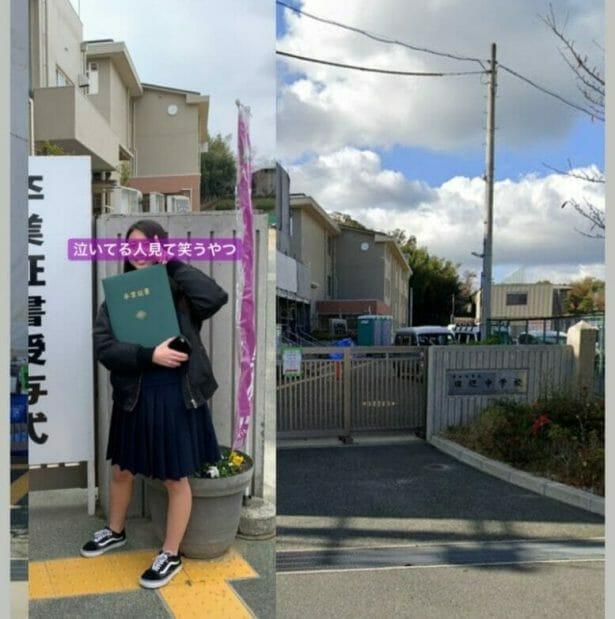 マユカとモモの出身中学高校