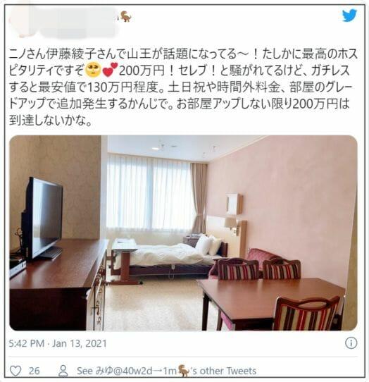 伊藤綾子は山王病院で出産